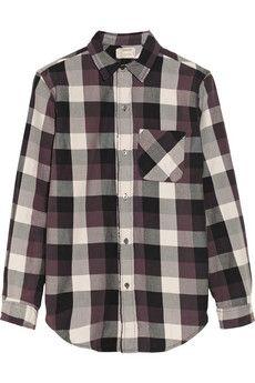 Current/Elliott The Prep School plaid cotton shirt | NET-A-PORTER