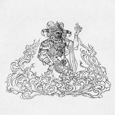 "Facets of Lord Shiva illustration with Earth, Fire, Wind and Water. ""Facets of Lord Shiva"" is published by Design Pickings. Lord Shiva, Mahakal Shiva, Shiva Art, Krishna, Indian Gods, Indian Art, Indian Style, Arte Shiva, Om Namah Shivay"
