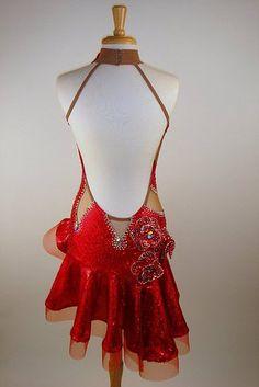 Red Ballroom Dresses | Latin Ballroom Dress - SOLD