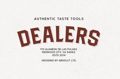 Dealers by Studio Formika on @creativemarket
