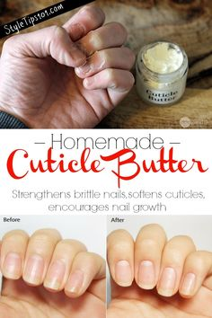 Homemade cuticle butter for soft cuticles & long nails # Homemade . - Homemade cuticle butter for soft cuticles & long nails – - Argan Oil For Hair Loss, Best Hair Loss Shampoo, Baby Hair Loss, Hair Loss Cure, Cuticle Care, Nail Cuticle, Cuticle Oil, Beauty Routine Skin, Do It Yourself Nails