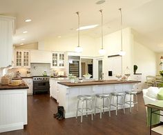 great open kitchen layout
