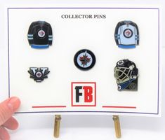 Collector pin set 5 Winnipeg Jets pins, exclusive sets from Fanbundles, Collector pins at GREAT VALUE! Canada's sports gift box service, combos available in CAD or build your OWN BOX! Sports Gifts, Fan Gear, Jets, Nhl, Hockey, Content, Personalized Items, Free, Field Hockey
