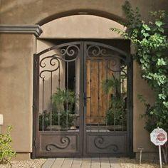 Wrought Iron Courtyard Gates | Decorative Iron Works ...