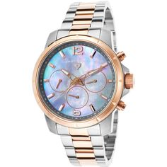 Swiss Legend Women's Legasea Multi-Function Two-Tone Stainless Steel... ($225) ❤ liked on Polyvore featuring jewelry, watches, multi, stainless steel jewellery, grey jewelry, grey watches, swiss legend and water resistant watches