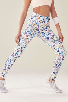 High-Waisted Printed PowerHold Legging - Light Springfield