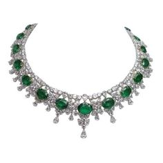 Magnificent Important Diamond Emerald Necklace ❤ liked on Polyvore featuring jewelry, necklaces, emerald diamond necklace, diamond necklace, emerald jewellery, emerald necklace and emerald diamond jewelry