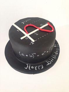 Math themed cake made by Scrumdiliumcious Cakes Fondant Cakes