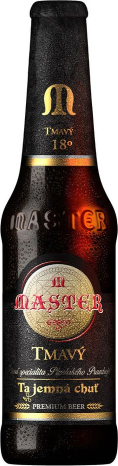 """""""Master"""" dark beer special from Plzeň (Pilsen), Czechia Beer Specials, Czech Beer, Premium Beer, Dark Beer, Beers Of The World, Beer Lovers, Whiskey Bottle, Brewing, Alcohol"""