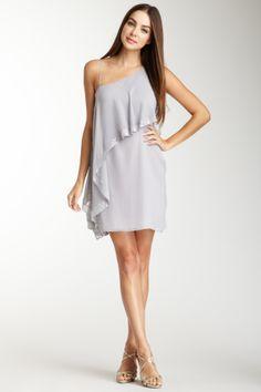 Susana Monaco Kayla Silk Asymmetrical Sequin Dress