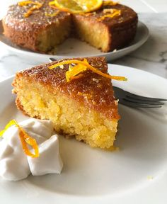 This orange almond cake is not only gluten free, it's super moist and is beautifully sweet. The delicate, intense orange syrup absolutely hits the spot. Patisserie Sans Gluten, Dessert Sans Gluten, Gluten Free Sweets, Gluten Free Cakes, Gluten Free Baking, Healthy Baking, Gluten Free Almond Cake, Almond Coconut Cake, Almond Flour Cakes