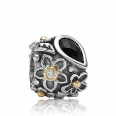 Pandora Charm Dew Drops on Flowers Moonstone