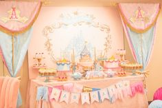 Sleeping Beauty Dessert Table by Minted and Vintage