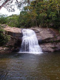 Cachoeira do Prumirim em Ubatuba, São Paulo, Brasil.