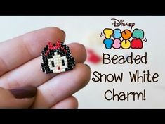 DIY Bead Tsum Tsum Snow White Charm // Bead Weaving // ¦ The Corner of Craft - Bead weaving, crochet, friendship bracelets, cakes and sweet treats are just a few of things that I love to make and bake! This channel has all sorts of craf… Bead Loom Patterns, Beaded Jewelry Patterns, Weaving Patterns, Bracelet Patterns, Art Patterns, Knitting Patterns, Color Patterns, Embroidery Patterns, Diy Jewelry Charms