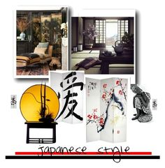 """Japanese style"" by evachasioti ❤ liked on Polyvore featuring interior, interiors, interior design, home, home decor, interior decorating, Home, oriental and decor"