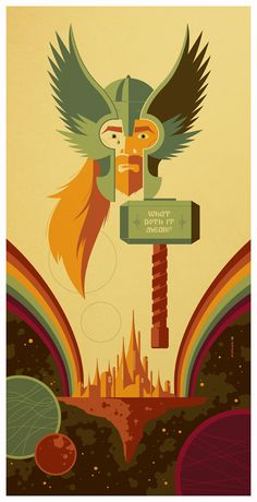 double rainbow bridge poster // by *strongstuff // entry for gallery 1988's 8th