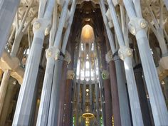 Inside of La Sagrada Familia   Barcelona