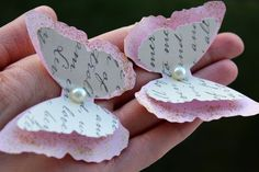 11 Pink Layered Butterflies Wedding Table Decoration / Bridal Shower/Wall Decor #Butterfly
