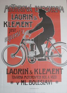 Nice motorcycle poster Laurin-Klement, found in Czechoslovakia before the falling of the Iron curtain.