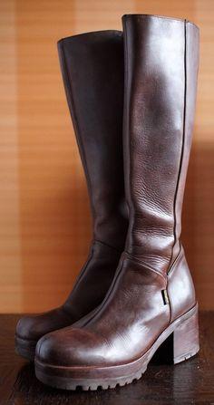 46f89b3fecd Vintage 70s Tan Platform Boots - Chamois Ankle Boots - 70s Boho ...