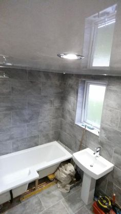 Bathroom Tiles B Q classic style 996 venturi stone tile effect vinyl flooring