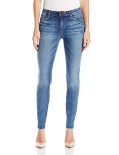 Joe's Jeans Women's Flawless Icon Midrise Skinny Ankle Jean in, Ally, 27. Light wash denim. Vintage look with a true denim hand.