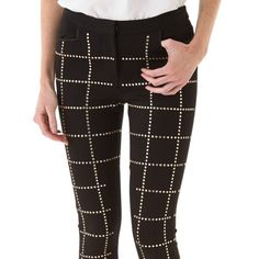 Rebecca Minkoff Winston studded pants/leggings These pants are seriously amazing. They are super comfortable and flattering. The few times I wore them on stage I got so many compliments. Hard to find because they don't make them anymore. There are three studs that have fallen off but it is unnoticeable.They say size 2 but I'm a size 6 and they fit me really well. They are stretchy but thick sturdy well made material- so unique! Rebecca Minkoff Pants Skinny