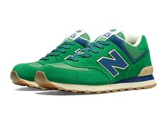 New balance Vintage 574 - Green with Navy & Cream