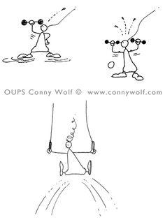 OUPS ist nicht sehr sportlich, aber sehr, sehr neugierig ... und einen Versuch ist es für ihn daher allemal wert. :-)