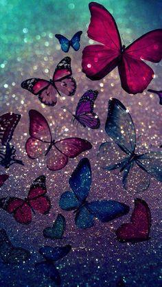 butterflies beautiful butterflies i love you Phone Screen Wallpaper, Heart Wallpaper, Cute Wallpaper Backgrounds, Wallpaper Iphone Cute, Pretty Wallpapers, Cellphone Wallpaper, Colorful Wallpaper, Galaxy Wallpaper, Aesthetic Iphone Wallpaper