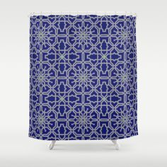 Tiles and geometric patterns Shower Curtain