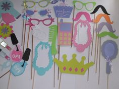 Photo booth props slumber party por flutterbugfrenzy en Etsy, $32,00