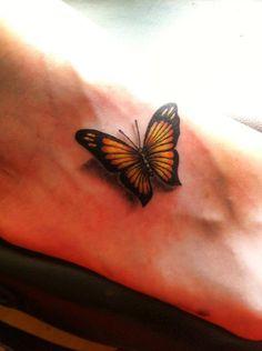 My new foot tattoo #butterflies