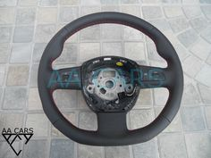 Steering Wheel AUDI A3 A4 A6 A8 new Leather Flat Bottom #AUDI