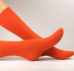 Chaussette Collection De Ville - Orange Citrouille
