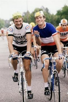 Retro bikes are better than fixies • Bernard Thévenet & Bernard Hinault, Tour de France.