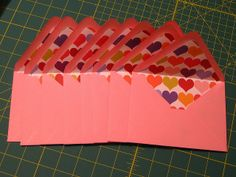 My envelope liners by anniedanko, via Flickr these are super cute!