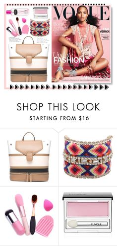 """Style your bag 2017"" by natalyapril1976 ❤ liked on Polyvore featuring Geox, Clinique, Victoria's Secret, set, bag, trend and 2017"