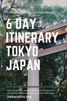 A detailed 6 day Tokyo itinerary for those who are planning to visit Tokyo for the first time. Includes map, hotel recommendations and Tokyo travel tips. Travel Jobs, Student Travel, Tokyo Travel, Asia Travel, Harajuku Station, Meiji Shrine, Torii Gate, Backpacking South America, Visit Tokyo