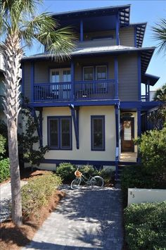 """""""Seas the Day"""" Luxurious 5 Ba House w/pool in Rosemary Beach Surf Shack, Beach Shack, Cottages By The Sea, Beach Cottages, Narrow Lot House Plans, Vacation Rentals By Owner, Deck Posts, Surf House, Beach Bungalows"""
