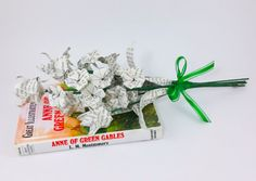 Origami Book Bouquet, Mix Tulips and Small Blossoms, Anne of Green Gables