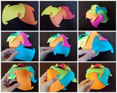 FREE Paper Polyhedron Pattern~ Students use the pattern to trace and cut out colored pieces of card stock to make this clever craft. Check out the post for helpful tips.