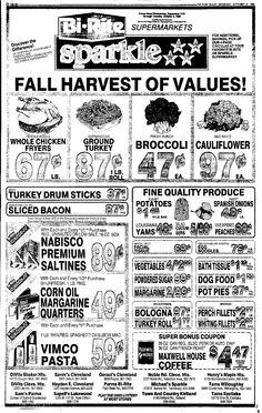 Vintage Bi-Rite Supermarket Ad, Vimco Pasta, Elbo Macaroni or Spaghetti…
