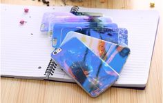 Modern Blue Ray Light Clear Phone Case For iPhone 6 6S 6 Plus Funny Pattern Transparent Cover - free shipping worldwide