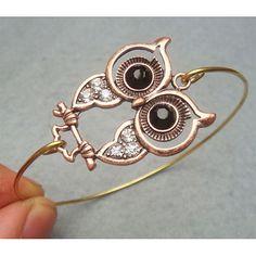 Owl Bangle Bracelet Style 11