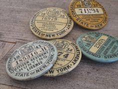 Vintage hunting licenses, by Matt Hranek.