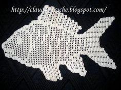 Com estes gráficos de peixes em crochê vocês poderão enfeitar a sua casa. Temos uma variedade de modelos verdadeiramente lindos para sua casa. Basta ter os gráficos de crochê, pegar agulha e linha e começar logo com o seu crochê. Eu adoro estas toalhas de croch