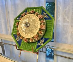 Vintage Ceramic and Glass Garden Art