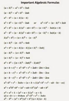 Maths Algebra Formulas, Math Vocabulary, Basic Physics Formulas, Gre Math, Simple Math, Basic Math, Math Formula Chart, Maths Ncert Solutions, Math Tutorials